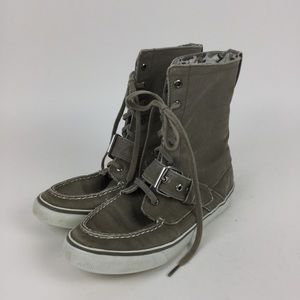 SPERRY Top Siders Canvas High Top Camo Boat Shoe